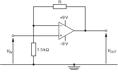 An ideal operational amplifier (op-amp) has infinite voltage