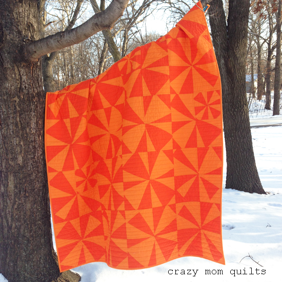 Crazy mom quilts i like orange a completed quilt for Red door design quilts