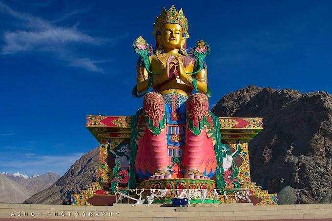 Ladakh Diaries - The Land of Buddha. Statue of Maitreya