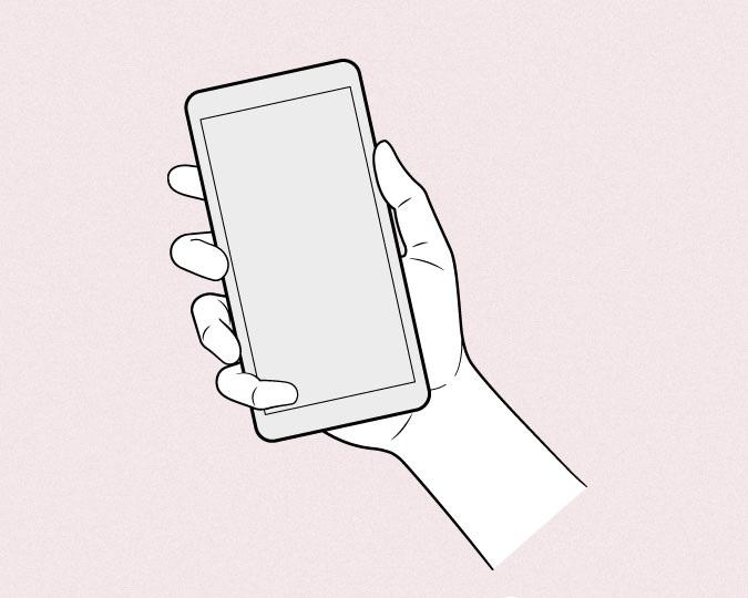 Anime memegang telepon