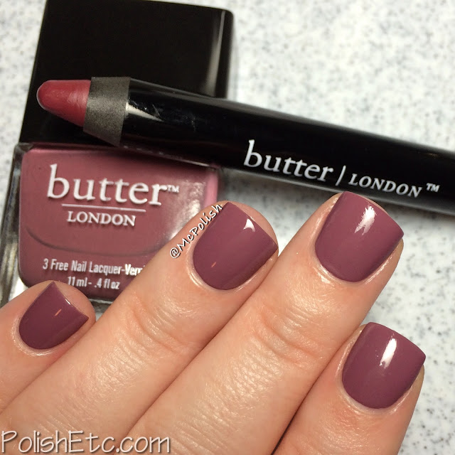 Butter London - Bloody Brilliant Lip Crayon and Polish - McPolish - Toff