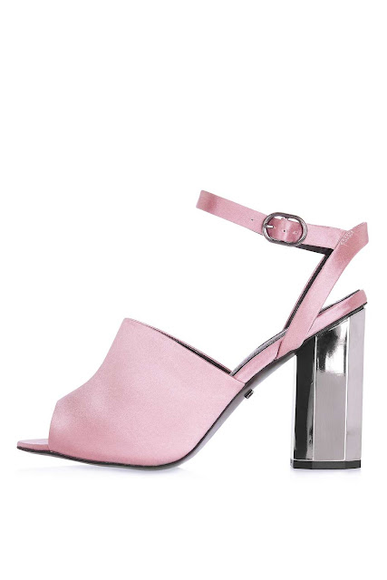 light pink satin heels topshop
