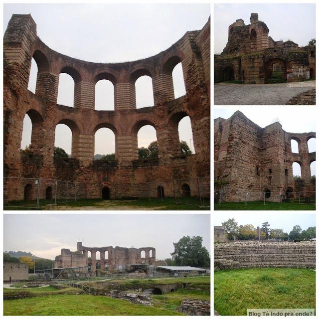 Patrimônios da Humanidade pela UNESCO - conjunto de resquícios romanos em Trier, a cidade mais antiga da Alemanha