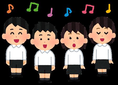 子供の合唱のイラスト(フォーマル)