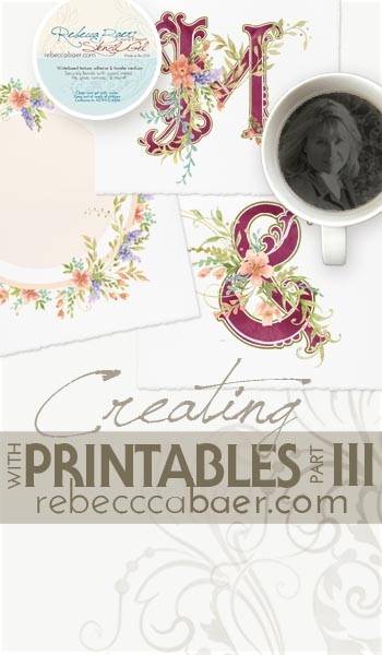 DIY Image transfer using printable, digital art by RebeccaBaer.com