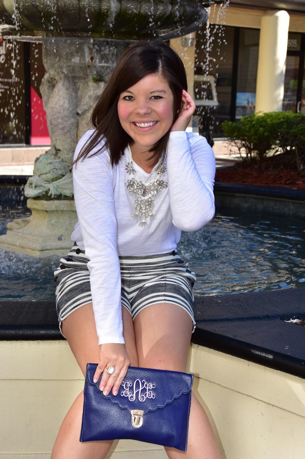 Spring Transition: LOFT Sailor Shorts + A Spring #OOTD