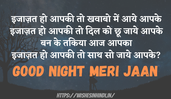 Good Night Wishes For Girlfriend In Hindi