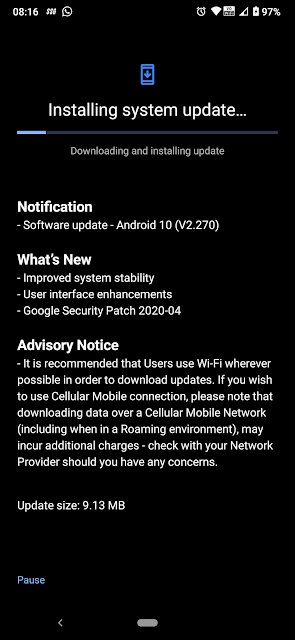 Nokia 7.2 receiving April 2020 Android Security Patch