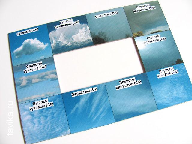 Рамка для определения видов облаков. Скачать шаблон