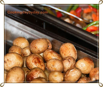 Roasted Baby Potatoes with Shallots