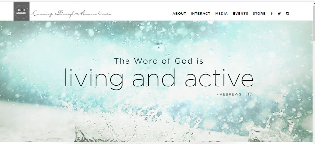 Beth Moore Website Header