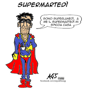supermartedì, lunedì, elezioni USA, satira, vignetta
