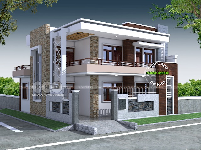 Diseño y arquitectura contemporánea de una casa de cinco dormitorios con techo plano