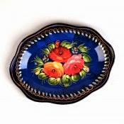 Russian craft Zhostovo platter