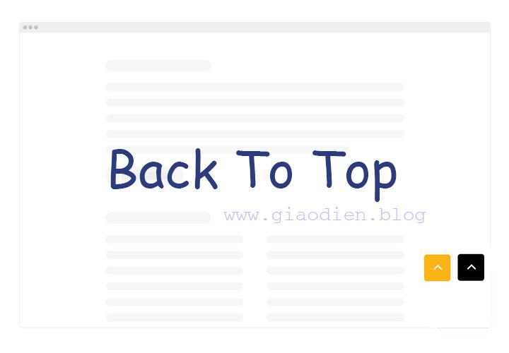 Hướng dẫn tạo nút Back to top cho blogspot