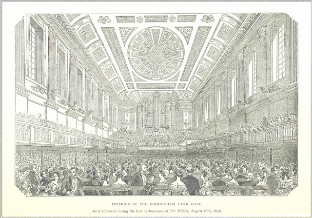 Brmingham Town Hall as it appeared during the performance of 'Elijah', August 26th 1846, London Illustrated News