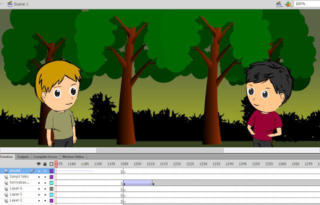 gambar - proses pembuatan animasi antar komponen biotik ekosistem