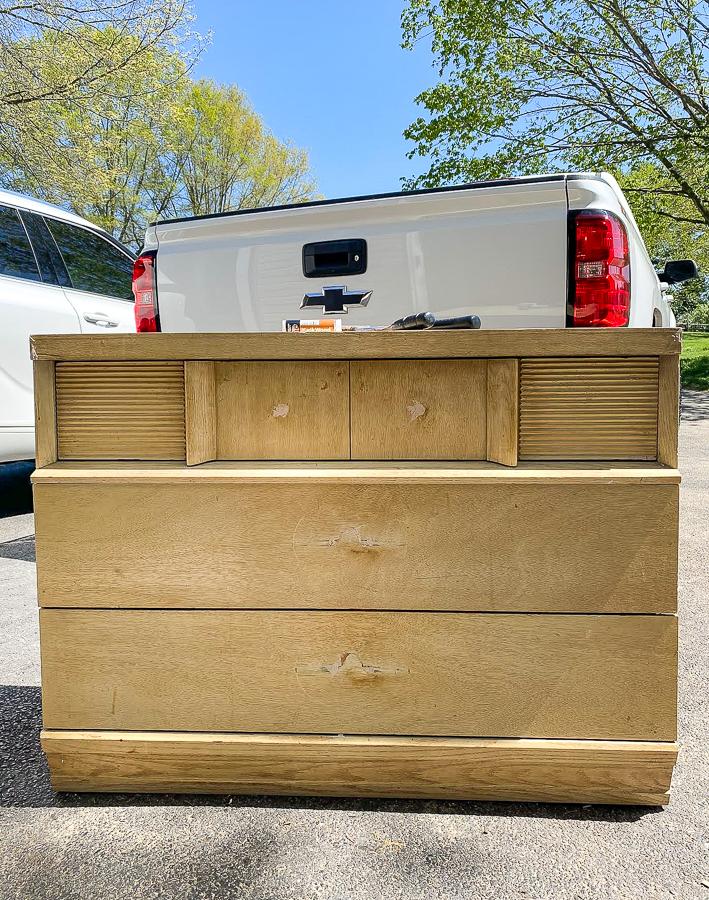 Filling old furniture holes