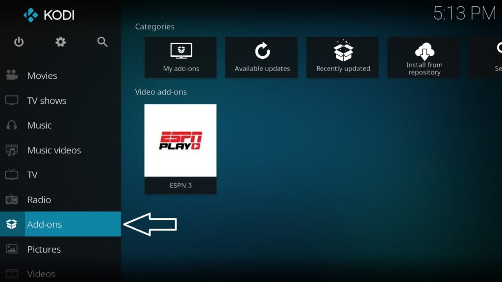 download add-on to stream movies on KODI