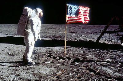 Il primo sbarco dell'uomo sulla Luna nel 1969