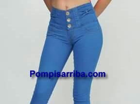 Piernas de Mujer con Jeans en color Azul