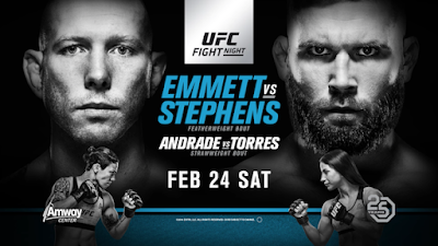 Watch UFC on Fox 28: Emmett vs Stephens  2-24-18