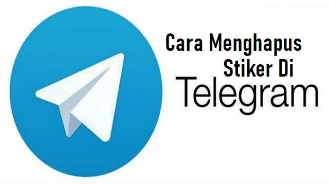 Cara Menghapus Stiker di Telegram
