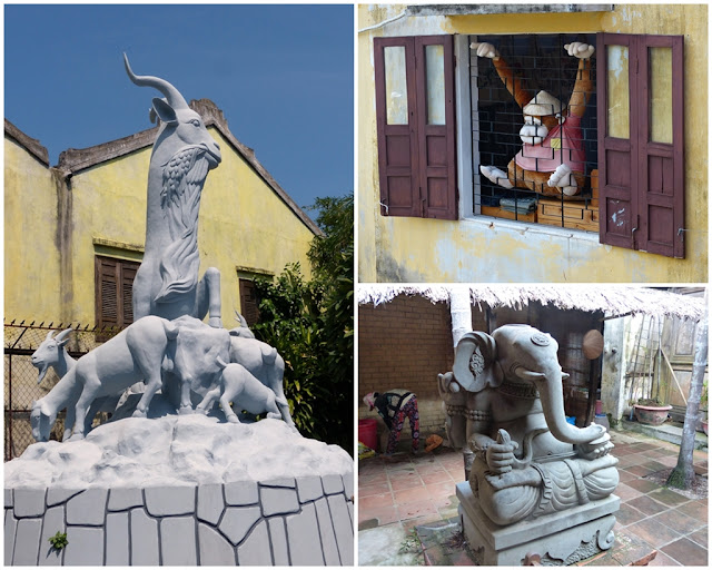 Sculptures on the streets of Old Town of Hoi An
