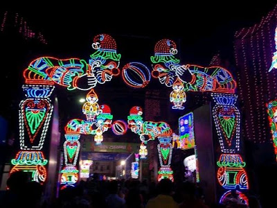 Durga Puja Lighting