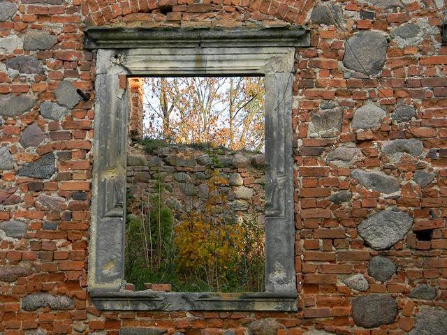 ruiny, Grębocice, pałac, von Loss