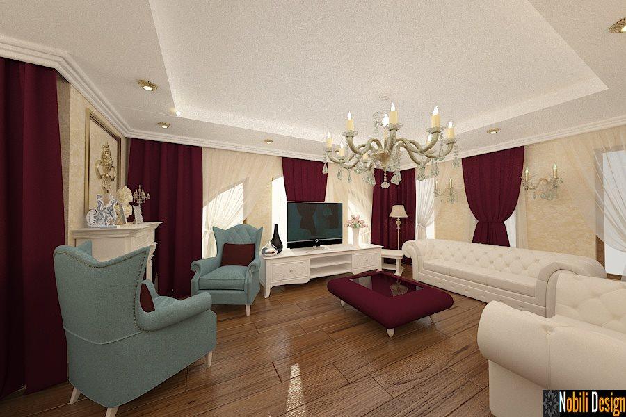 Design interior living mobila clasica italiana - Design interior casa clasica Bucuresti. Amenajari, interioare, case, vile, clasice, living, mobila, clasica, de lux, preturi, Italia.