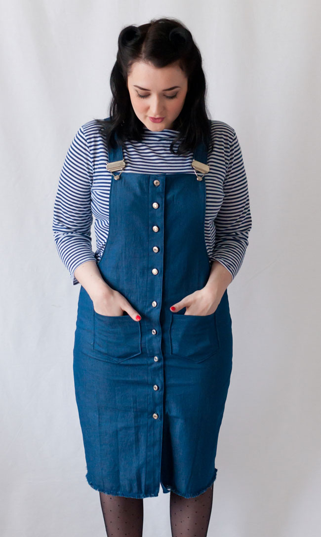 Five hacks for the Cleo dungaree dress - Tilly and the Buttons