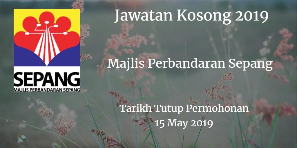 Jawatan Kosong MPSepang 15 May 2019