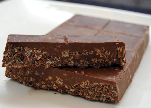 Turrón de Chocolate y Arroz Inflado