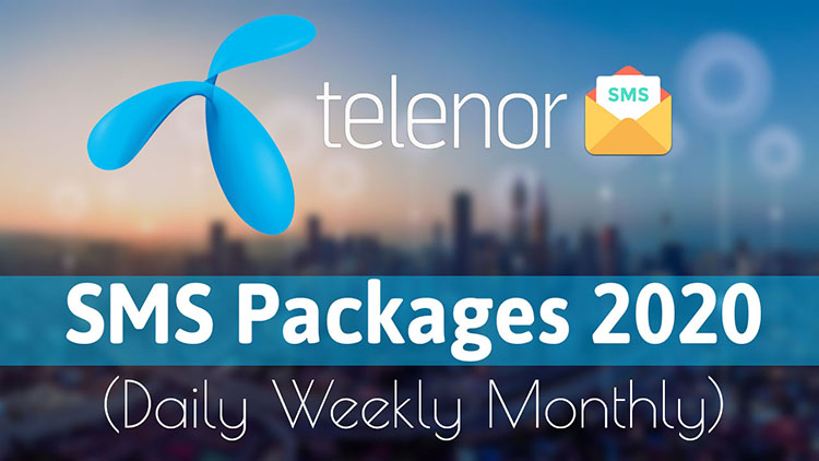 Telenor Daily Weekly Monthly Sms Packages 2020