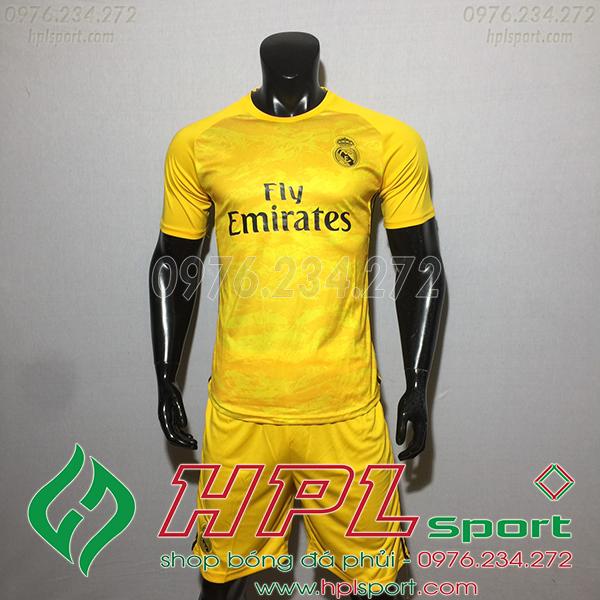 Áo câu lạc bộ Real màu vàng 2020