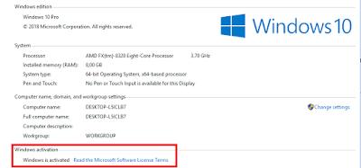 2 Cara Aktivasi Windows Agar Permanent