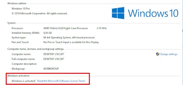 2 Cara Mudah Aktivasi Windows/Microsoft Agar Permanent