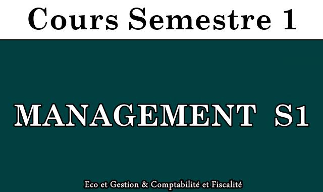 Cours de MANAGEMENT S1
