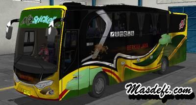livery bussid hd berkah jaya kotor