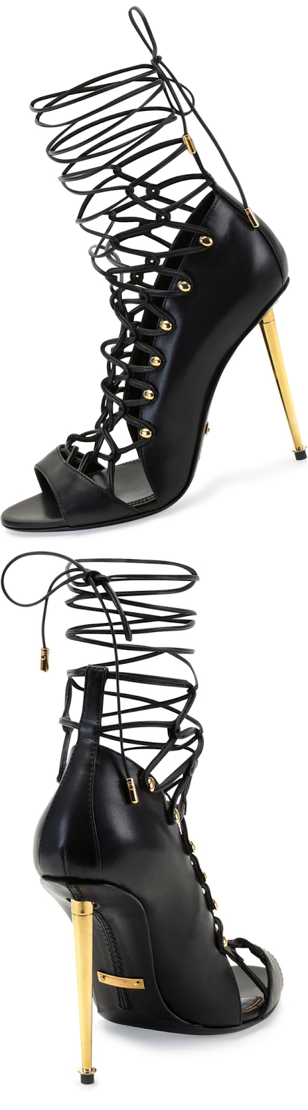 Tom Ford Calfskin Lace-Up Sandal