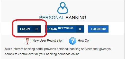 click on the login under personal banking