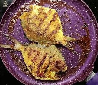 Homemade fried pomfret fish recipe