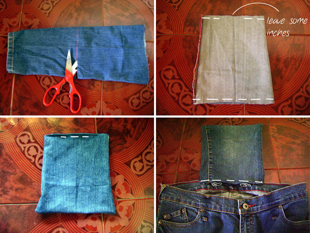 DIY Denim Backpack - Adding Flap Tutorial