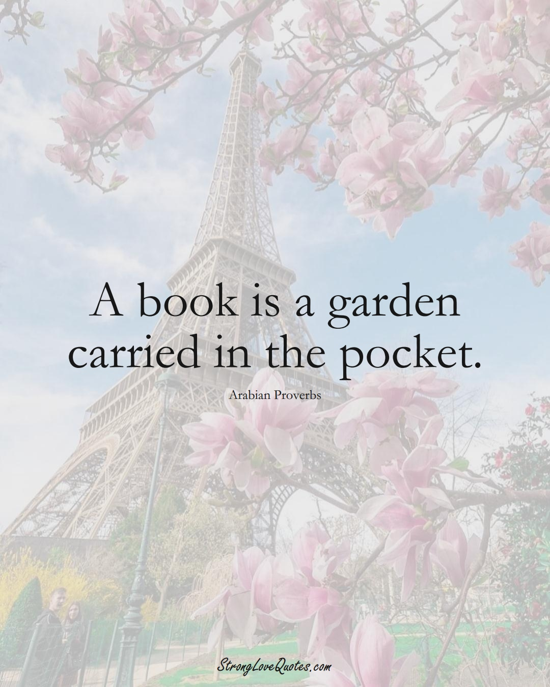 A book is a garden carried in the pocket. (Arabian Sayings);  #aVarietyofCulturesSayings