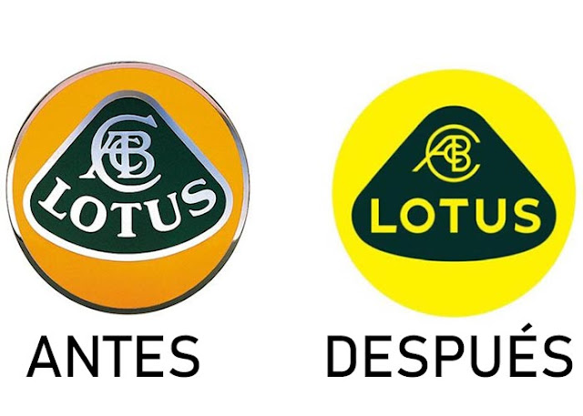 Antes y despues logo de lotus