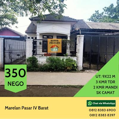 Jual Rumah Cantik Murah Hanya 350 JUTA Di Pasar IV Barat Marelan Medan Sumatera Utara