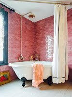 Pink bathroom tiles idea