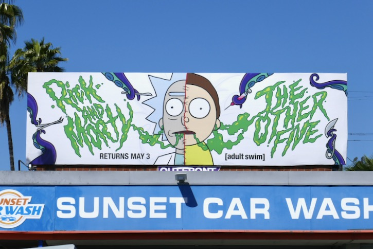 Rick and Morty season 4 part 2 billboard