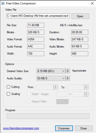 تحميل برنامج لتصغير حجم الفيديو بنفس الجودة Free Video Compressor